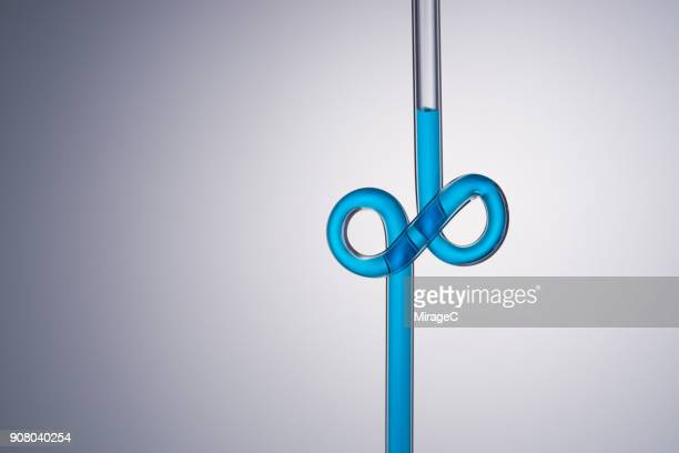 infinity symbol shaped glass tube - infinity stock pictures, royalty-free photos & images