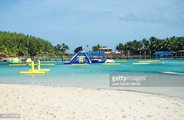 Inflatable playground in the Bahamas