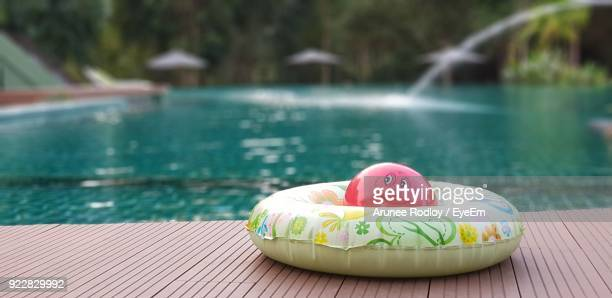 Inflatable Ring On Poolside