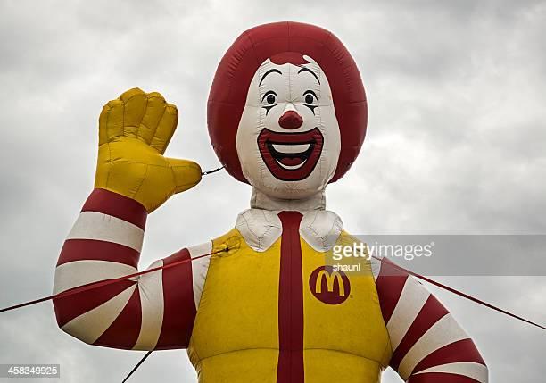 inflatable ronald - ronald mcdonald stock photos and pictures