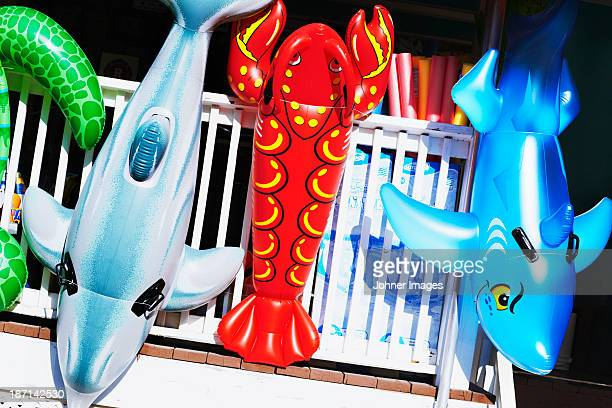 Inflatable toys, close-up