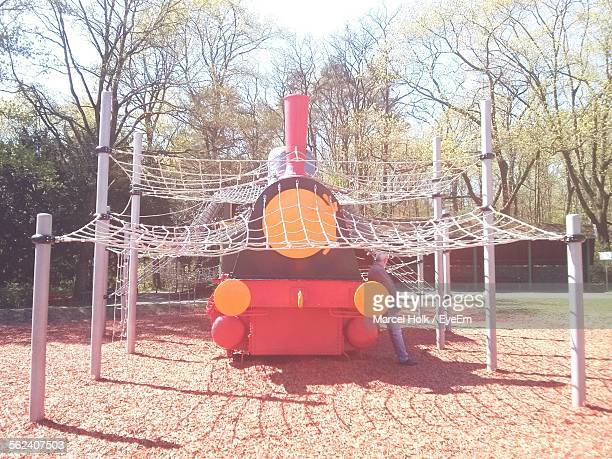 Inflatable Train In Playground