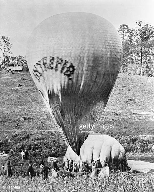 Inflation of Professor TSC Lowe's observation balloon Intrepid Lowe's Intrepid and Constitution were used as observation platforms for the Union army...