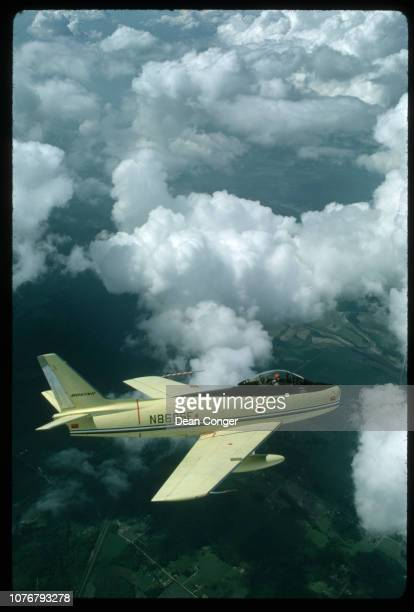Inflight View of a North American F86 Sabre