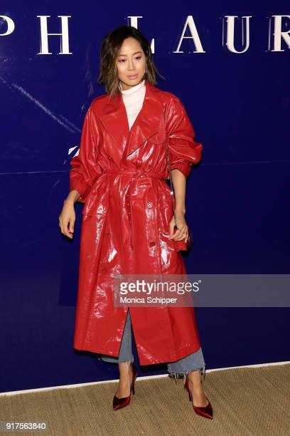 Influencer Aimee Song attends the Ralph Lauren fashion show during New York Fashion Week The Shows on February 12 2018 in New York City
