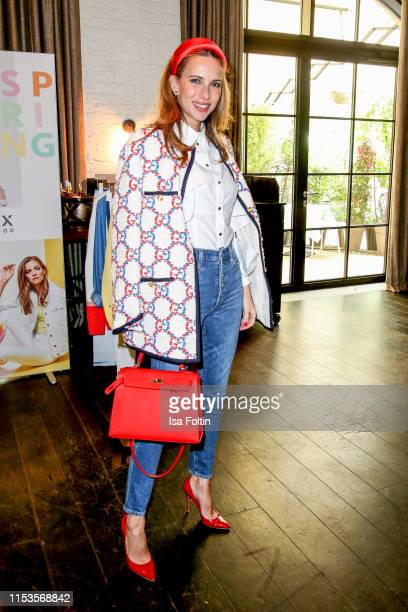 Influencer Alexandra Lapp attends the GALA X BRAX Influencer Lunch at Hotel Zoo on July 3, 2019 in Berlin, Germany.