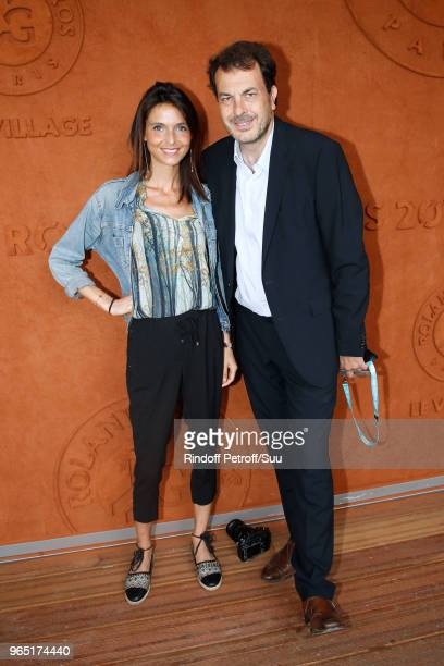 Influencer Alice Vachet and LaurentEric Le Lay attend the 2018 French Open Day Six at Roland Garros on June 1 2018 in Paris France