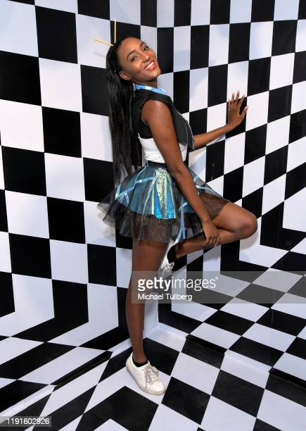 Influencer Allana Maunai attends the VIP opening night for the Dumpling Associates popup art exhibition at ROW DTLA on December 02 2019 in Los...