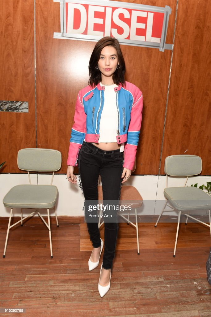 Influencer Amanda Steele attends Diesel's opening of a real knock-off store on Canal Street during NY Fashion Week on February 9, 2018 in New York City.