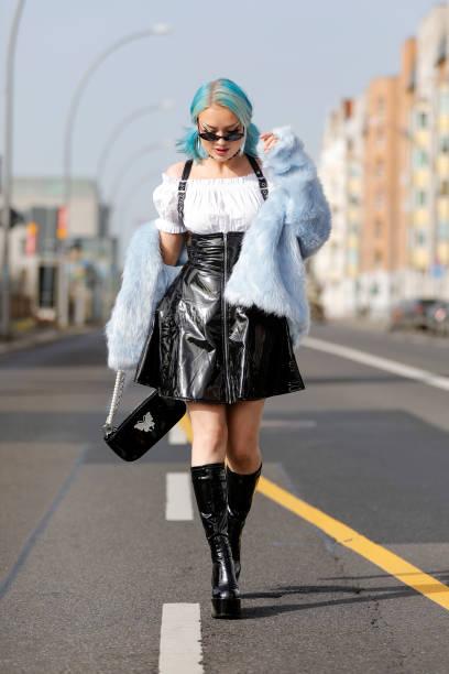 DEU: Naomi Jon Street Style Shooting In Berlin