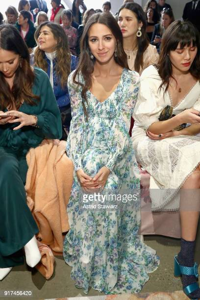 Influencer Arielle Noa Charnas attends the Zimmermann fashion show during New York Fashion Week The Shows at Gallery I at Spring Studios on February...