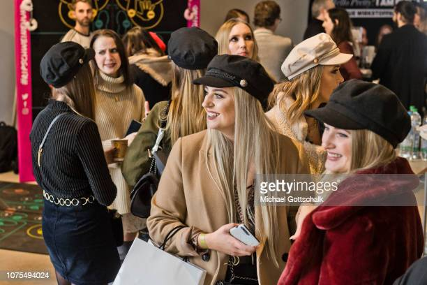 Influencer attend the SpreadCon by Spreadvertise on December 01, 2018 in Cologne, Germany.