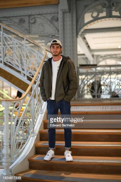 Influencer Bastien Treiber @tbr_bastien is seen, at La Samaritaine on June 22, 2021 in Paris, France. The department store was founded in 1870 by...