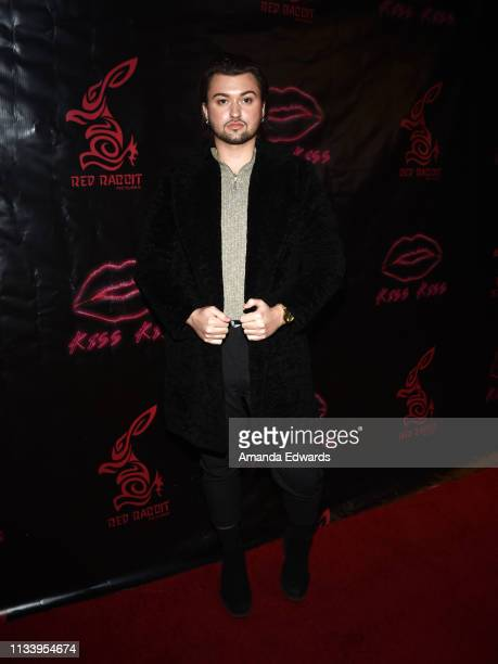 Influencer Beau Aliso arrives at the Los Angeles premiere of 'KISS KISS' at the Ahrya Fine Arts Theater by Laemmle on March 05 2019 in Beverly Hills...