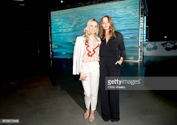 Influencer Carmen Jorda and designer Stella McCartney attend adidas by Stella McCartney Spring Summer 2017 Collection Presentation on November 2 2016...