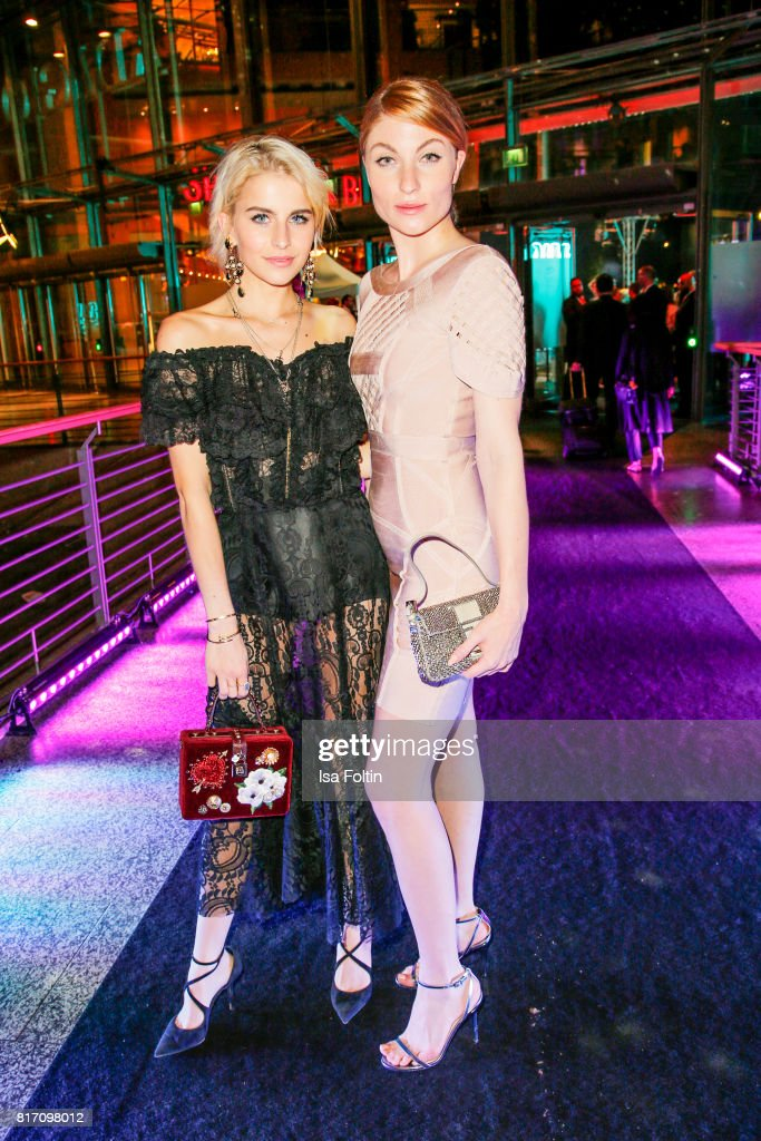 Influencer Caro Daur and Influencer Lisa Banholzer attend the 'Atomic Blonde' World Premiere at Stage Theater on July 17, 2017 in Berlin, Germany.