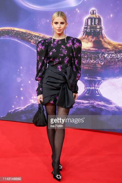 """Influencer Caro Daur attends the movie premiere of """"Aladdin"""" at UCI Luxe Mercedes Platz on May 11, 2019 in Berlin, Germany."""