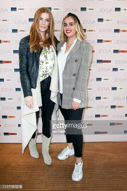 """Influencer Cati Schweyer and influencer Laura Studen at the """"Zoeva - Authentic Luminous Skin Foundationon"""" launch on October 22, 2019 in Berlin,..."""