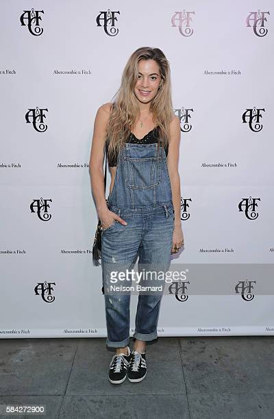 DJ Influencer Chelsea Leyland at Abercrombie Fitch Summer Rooftop Party at Gallow Green Rooftop on July 28 2016 in New York City