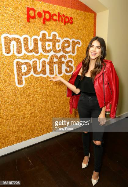Influencer Daniella Monet attends the launch of Popchips' Nutter Puffs at the Chateau Marmont on March 20 2018 in Los Angeles California