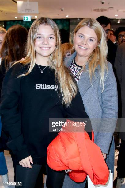 Influencer Faye Montana and her mother German actress Anne-Sophie Briest attend the Douglas Flagship-Store Opening on October 30, 2019 in Berlin,...