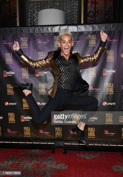 """Influencer Frankie Grande arrives at the opening of """"Paula Abdul: Forever Your Girl"""" At Flamingo Las Vegas on October 24, 2019 in Las Vegas, Nevada."""