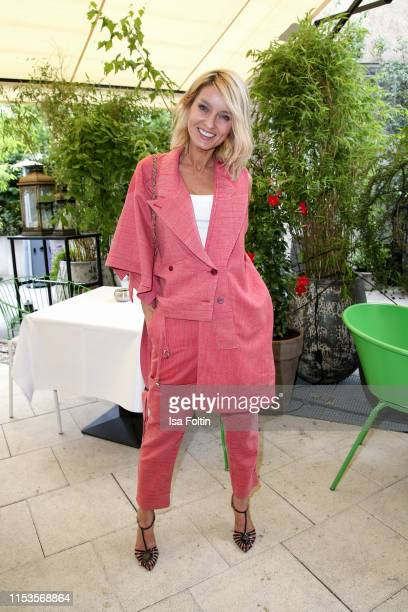 Influencer Gitta Banko attends the GALA X BRAX Influencer Lunch at Hotel Zoo on July 3, 2019 in Berlin, Germany.