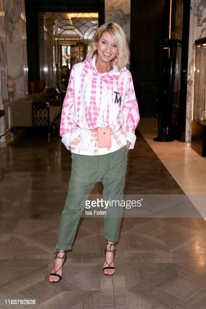 Influencer Gitta Banko during the Fashion Tea Time at Titanic Deluxe Hotel on July 4, 2019 in Berlin, Germany.