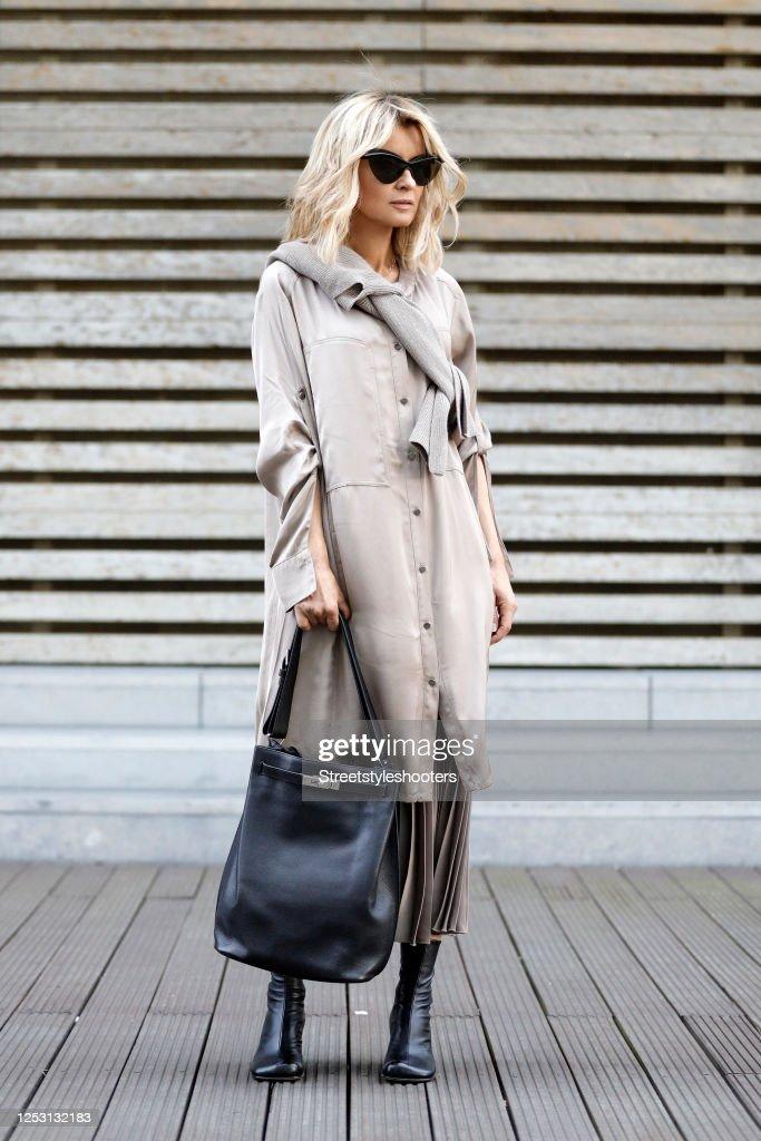 Gitta Banko Street Style - Duesseldorf - June 28, 2020 : News Photo