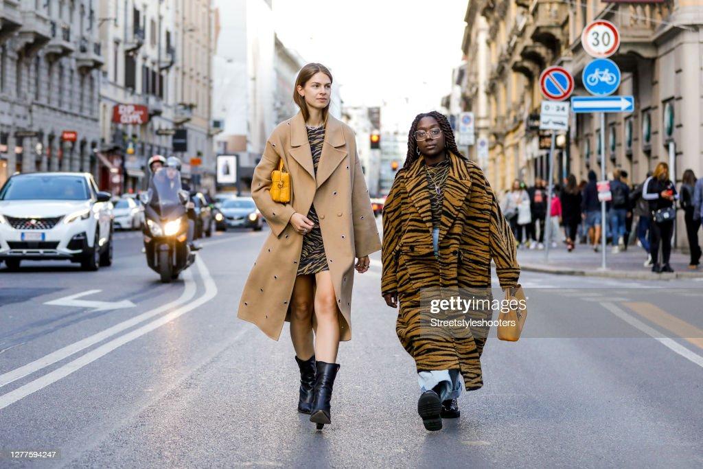Street Style: September 28 - Milan Fashion Week Spring/Summer 2021 : News Photo