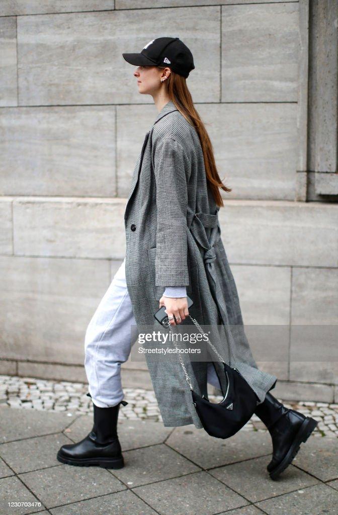 Street Style - Mercedes-Benz Fashion Week Berlin January 2021 - January 20, 2021 : News Photo