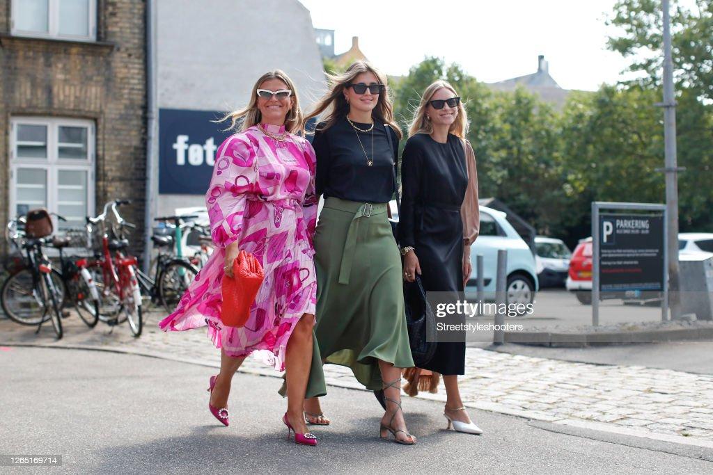 Street Style - Day 2 - Copenhagen Fashion Week Spring/Summer 2021 : News Photo