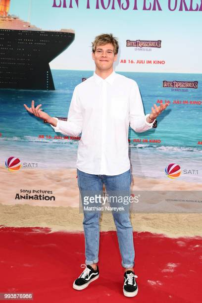 Influencer Joey attends the 'Hotel Transsilvanien 3' premiere at CineStar on July 8 2018 in Berlin Germany