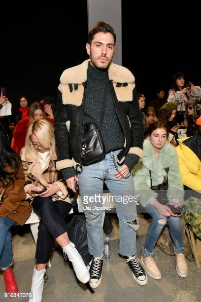 Influencer Joey Zauzig attends the Concept Korea front row during New York Fashion Week The Shows at Gallery I at Spring Studios on February 9 2018...