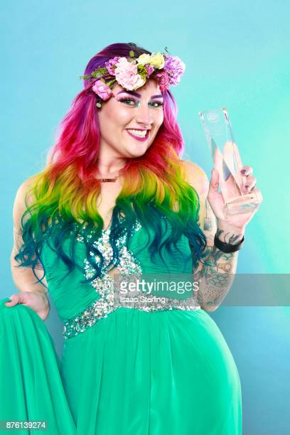 Influencer Jordan Glindmyer poses for portrait at the American Influencer Awards at LA Live on November 18 2017 in Los Angeles California