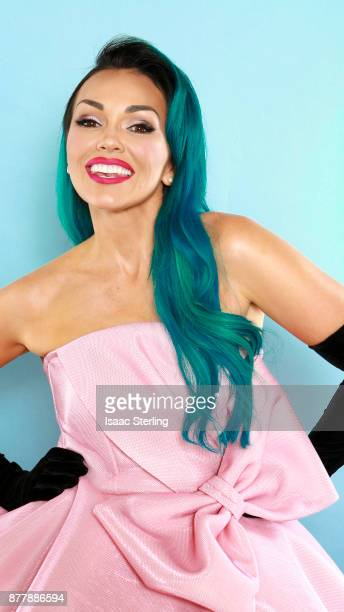 Influencer Kandee Johnson poses for portrait at the American Influencer Awards at LA Live on November 18 2017 in Los Angeles California