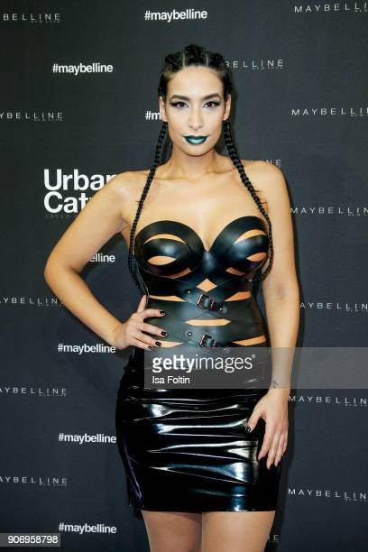 Influencer Lamiya Slimani during the Maybelline Show 'Urban Catwalk Faces of New York' at Vollgutlager on January 18 2018 in Berlin Germany