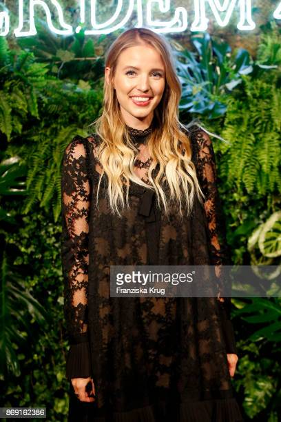 Influencer Leonie Hanne wearing ERDEM X HM attends the ERDEM x HM PreShopping Event on November 1 2017 in Berlin Germany