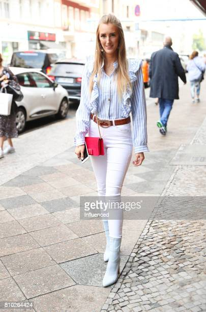 Influencer Leslie Huhn attends the Gala Fashion Brunch Ellington Hotel on July 7 2017 in Berlin Germany