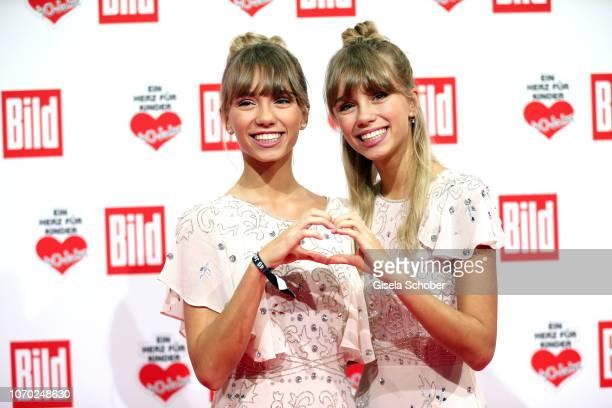 Influencer Lisa and Lena during the Ein Herz Fuer Kinder Gala at Studio Berlin Adlershof on December 8 2018 in Berlin Germany