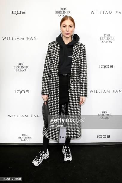 Influencer Lisa Banholzer arrives at the William Fan Defile during 'Der Berliner Salon' Autumn/Winter 2019 at Knutschfleck on January 15 2019 in...