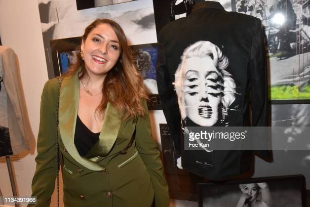 Influencer Mademoiselle Valerie attends Maurice Renoma Tribute to Street Art Preview at Espace Bernard Palissy on March 07 2019 Boulogne Billancourt...