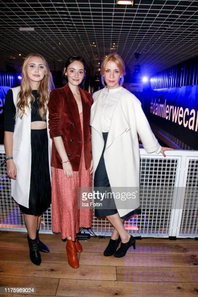 Influencer Marijke Smittenaar German actress Maria Ehrich and German actress Annika Ernst attend the Daimler event Be a Mover at BRLO on October 14...