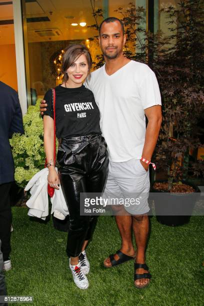 Influencer Masha Sedgwick and presenter Patrice Bouedibela during the 'True Berlin' Hosted By Shan Rahimkhan on July 11, 2017 in Berlin, Germany.