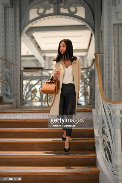 Influencer May Berthelot @may.berthelot is seen, at La Samaritaine on June 22, 2021 in Paris, France. The department store was founded in 1870 by...
