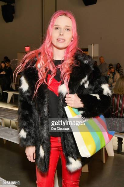 Influencer Mery Racauchi attends the Concept Korea front row during New York Fashion Week The Shows at Gallery I at Spring Studios on February 9 2018...