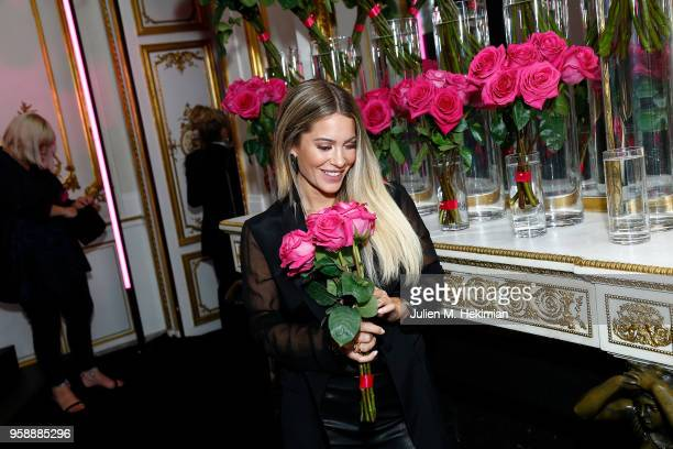 Influencer Mrs Bella poses during the Karl Lagerfeld & ModelCo. Makeup line launch event at Hotel D'Evreux on May 15, 2018 in Paris, France.