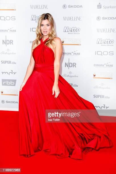 Influencer Nadine Klein attends the Goldene Henne at Messe Leipzig on September 20, 2019 in Leipzig, Germany.