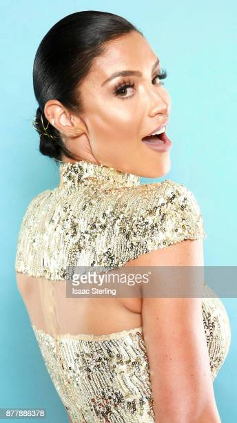 Influencer Natalie Eva Marie poses for portrait at the American Influencer Awards at LA Live on November 18 2017 in Los Angeles California