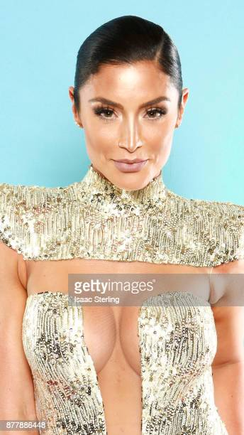 Influencer Natalie Eva Marie poses for portrait at the American Influencer Awards at LA Live on November 18, 2017 in Los Angeles, California.
